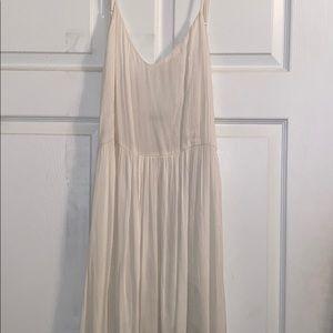 Nasty Gal flowy white/cream maxi dress